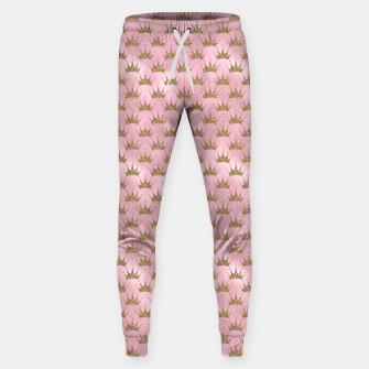 Miniatur Pink and Gold Mermaid Glitter Crowns Sweatpants, Live Heroes