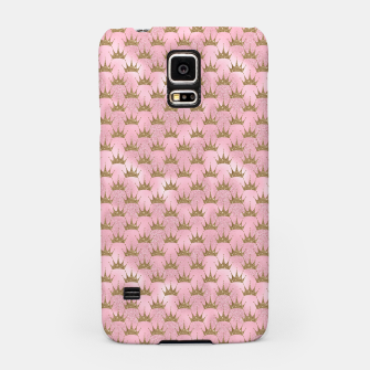 Miniatur Pink and Gold Mermaid Glitter Crowns Samsung Case, Live Heroes