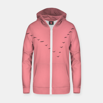 Thumbnail image of V shape Zip up hoodie, Live Heroes