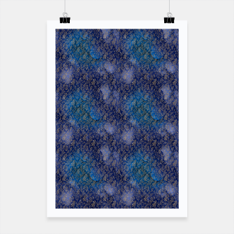 Miniatur Blue and Gold Mermaid Glitter Mini Skirt Poster, Live Heroes