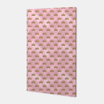 Miniatur Pink and Gold Mermaid Glitter Crowns Canvas, Live Heroes