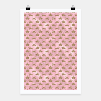Miniatur Pink and Gold Mermaid Glitter Crowns Poster, Live Heroes