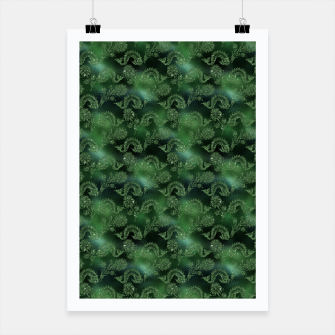 Miniatur Green Mermaid Glitter Sea Monsters Poster, Live Heroes