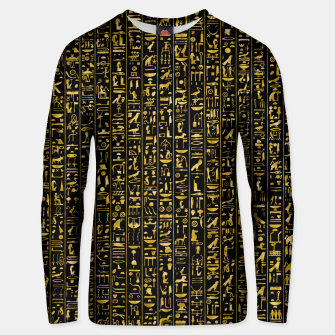 Thumbnail image of Hieroglyphics GOLD Ancient Egyptian Hieroglyphic Symbols Unisex sweater, Live Heroes