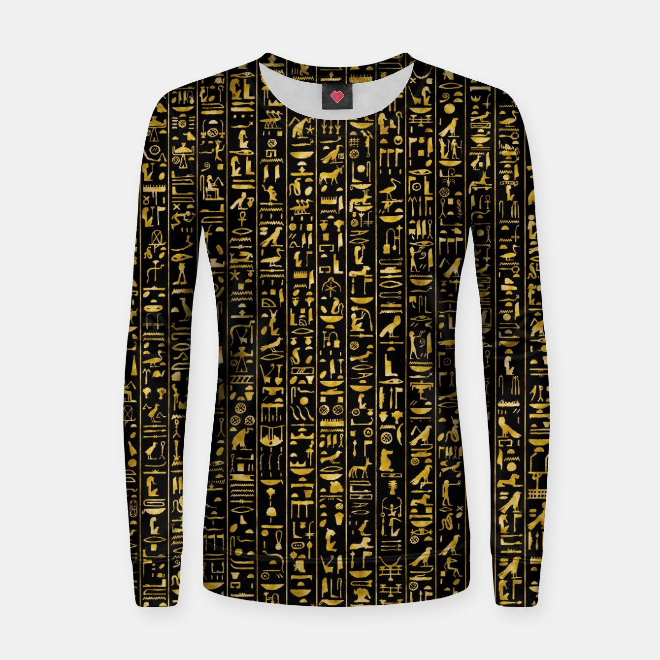 Foto Hieroglyphics GOLD Ancient Egyptian Hieroglyphic Symbols Women sweater - Live Heroes