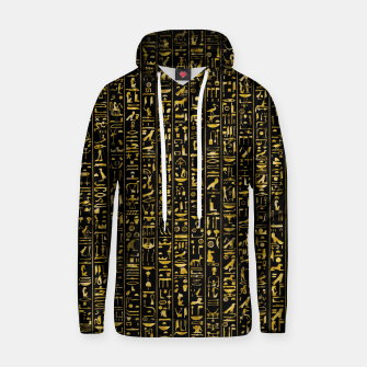 Thumbnail image of Hieroglyphics GOLD Ancient Egyptian Hieroglyphic Symbols Hoodie, Live Heroes
