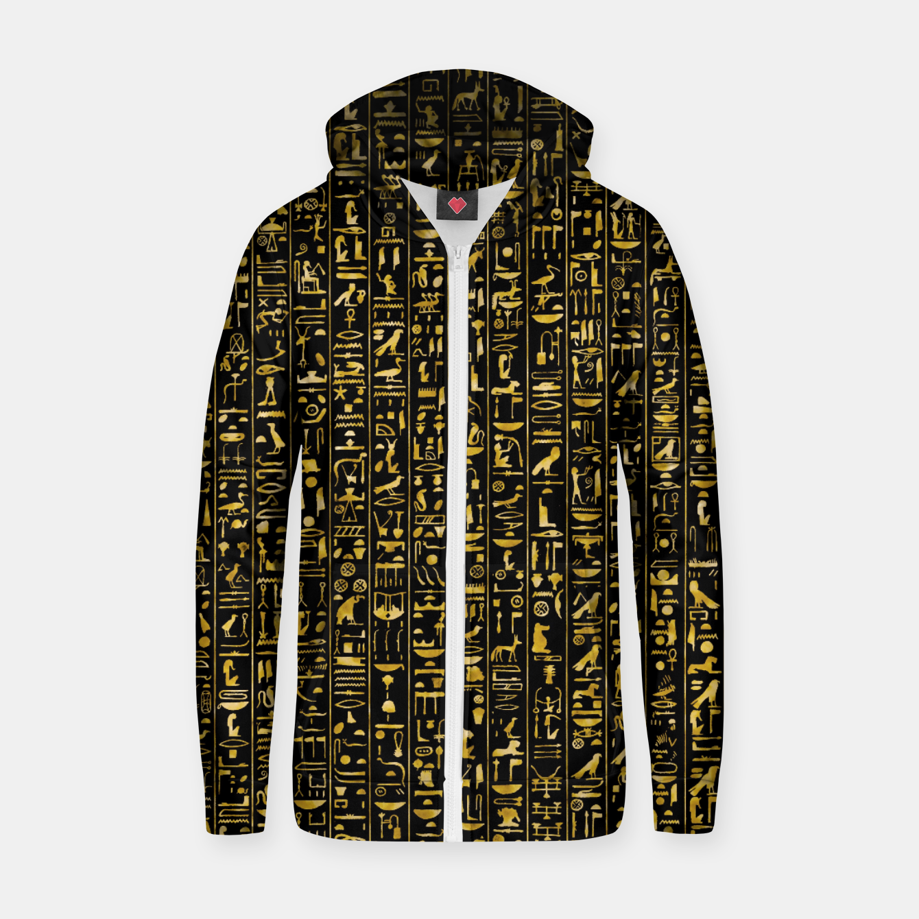 Foto Hieroglyphics GOLD Ancient Egyptian Hieroglyphic Symbols Zip up hoodie - Live Heroes
