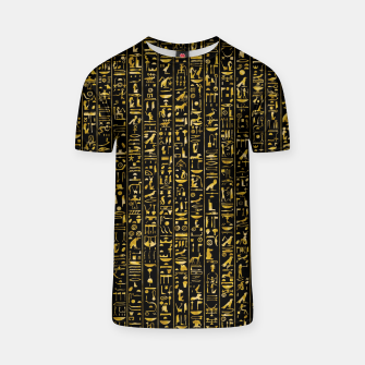 Thumbnail image of Hieroglyphics GOLD Ancient Egyptian Hieroglyphic Symbols T-shirt, Live Heroes