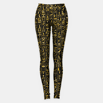 Thumbnail image of Hieroglyphics GOLD Ancient Egyptian Hieroglyphic Symbols Leggings, Live Heroes