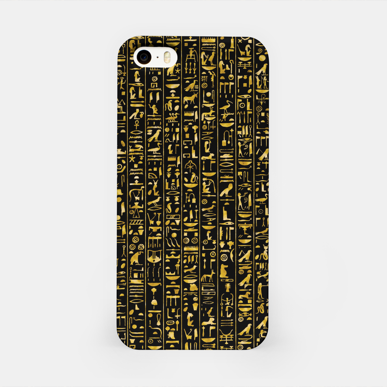 Image of Hieroglyphics GOLD Ancient Egyptian Hieroglyphic Symbols iPhone Case - Live Heroes