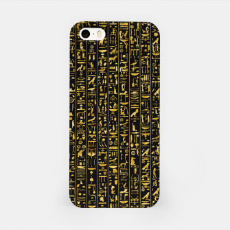 Hieroglyphics GOLD Ancient Egyptian Hieroglyphic Symbols iPhone Case Bild der Miniatur