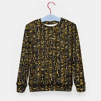 Miniatur Hieroglyphics GOLD Ancient Egyptian Hieroglyphic Symbols Kid's sweater, Live Heroes