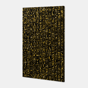 Hieroglyphics GOLD Ancient Egyptian Hieroglyphic Symbols Canvas thumbnail image