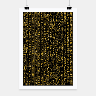 Thumbnail image of Hieroglyphics GOLD Ancient Egyptian Hieroglyphic Symbols Poster, Live Heroes