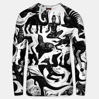 Miniatur Fashion items and decor art of MC Escher lithography Puzzle of Creatures Unisex sweater, Live Heroes