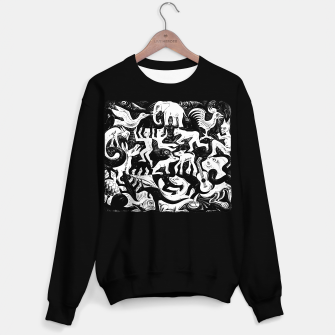 Miniatur Fashion items and decor art of MC Escher lithography Puzzle of Creatures Sweater regular, Live Heroes