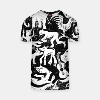 Miniatur Fashion items and decor art of MC Escher lithography Puzzle of Creatures T-shirt, Live Heroes