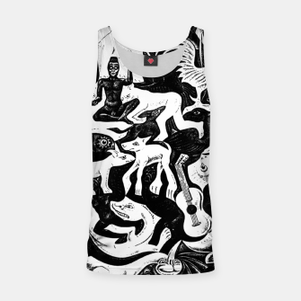 Miniatur Fashion items and decor art of MC Escher lithography Puzzle of Creatures Tank Top, Live Heroes