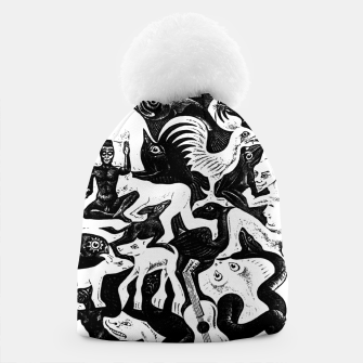 Miniatur Fashion items and decor art of MC Escher lithography Puzzle of Creatures Beanie, Live Heroes