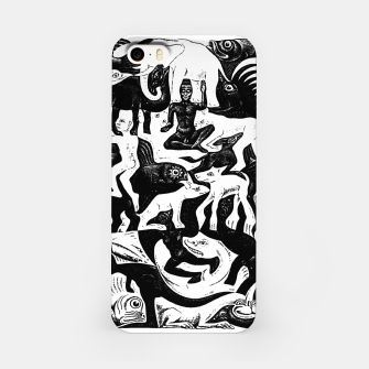 Miniatur Fashion items and decor art of MC Escher lithography Puzzle of Creatures iPhone Case, Live Heroes