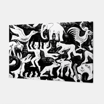 Miniatur Fashion items and decor art of MC Escher lithography Puzzle of Creatures Canvas, Live Heroes