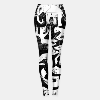 Miniatur Fashion items and decor art of MC Escher lithography Puzzle of Creatures Leggings, Live Heroes