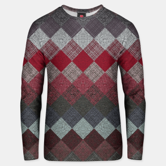 Thumbnail image of black white grey silver red geometric pattern Unisex sweater, Live Heroes