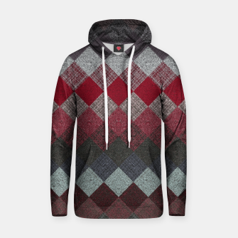Thumbnail image of black white grey silver red geometric pattern Hoodie, Live Heroes