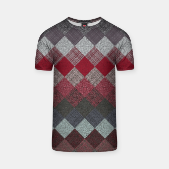 Thumbnail image of black white grey silver red geometric pattern T-shirt, Live Heroes
