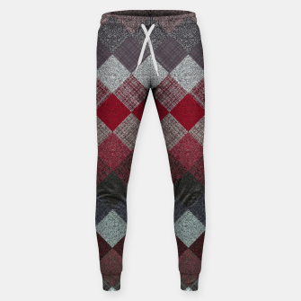 Thumbnail image of black white grey silver red geometric pattern Sweatpants, Live Heroes