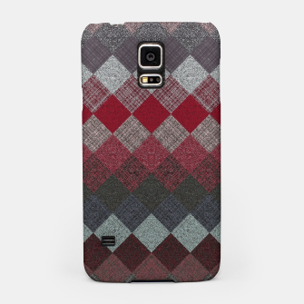Thumbnail image of black white grey silver red geometric pattern Samsung Case, Live Heroes