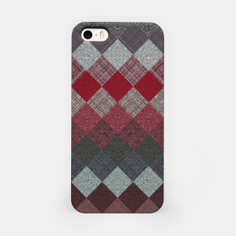 Thumbnail image of black white grey silver red geometric pattern iPhone Case, Live Heroes