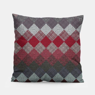 Thumbnail image of black white grey silver red geometric pattern Pillow, Live Heroes