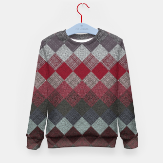 Thumbnail image of black white grey silver red geometric pattern Kid's sweater, Live Heroes