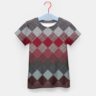 Thumbnail image of black white grey silver red geometric pattern Kid's t-shirt, Live Heroes