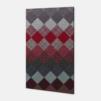 Thumbnail image of black white grey silver red geometric pattern Canvas, Live Heroes
