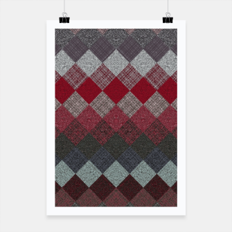 Thumbnail image of black white grey silver red geometric pattern Poster, Live Heroes