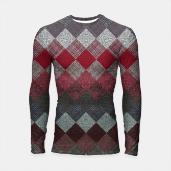 Thumbnail image of black white grey silver red geometric pattern Longsleeve rashguard , Live Heroes