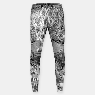 Thumbnail image of Fashion art and decor items of MC Escher Tri Dimensional Litography Sweatpants, Live Heroes