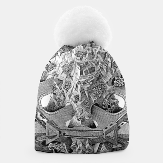 Thumbnail image of Fashion art and decor items of MC Escher Tri Dimensional Litography Beanie, Live Heroes