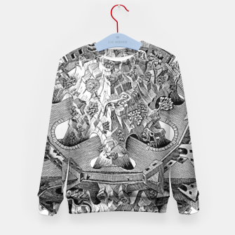 Thumbnail image of Fashion art and decor items of MC Escher Tri Dimensional Litography Kid's sweater, Live Heroes