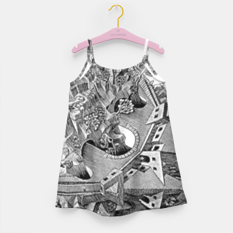 Thumbnail image of Fashion art and decor items of MC Escher Tri Dimensional Litography Girl's dress, Live Heroes