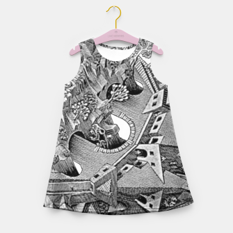 Thumbnail image of Fashion art and decor items of MC Escher Tri Dimensional Litography Girl's summer dress, Live Heroes