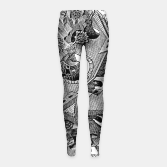 Thumbnail image of Fashion art and decor items of MC Escher Tri Dimensional Litography Girl's leggings, Live Heroes