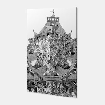 Thumbnail image of Fashion art and decor items of MC Escher Tri Dimensional Litography Canvas, Live Heroes