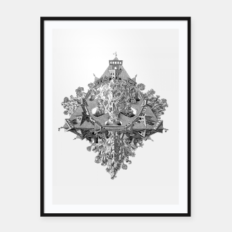 Thumbnail image of Fashion art and decor items of MC Escher Tri Dimensional Litography Framed poster, Live Heroes