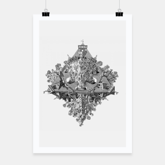 Thumbnail image of Fashion art and decor items of MC Escher Tri Dimensional Litography Poster, Live Heroes