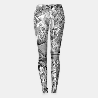 Thumbnail image of Fashion art and decor items of MC Escher Tri Dimensional Litography Leggings, Live Heroes