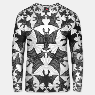 Miniatur Fashion items and decor art of  MC Escher Pattern Circle Angels and Demons Unisex sweater, Live Heroes