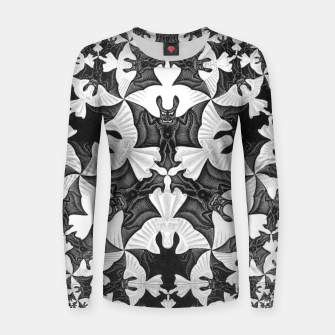 Miniatur Fashion items and decor art of  MC Escher Pattern Circle Angels and Demons Women sweater, Live Heroes
